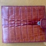 Новый мужской кошелёк из кожи крокодила с хлястико, Новосибирск