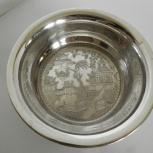 Вазочка, серебрение, 12, 5 см., Новосибирск