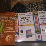 Продам рабочую тетрадь (ч.1,2) по математике т.М. Ерина 6класс (новые), Новосибирск