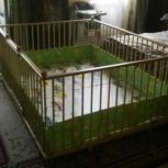 Большой детский деревянный манеж 1,5х2,0м с калиткой для двойни, Новосибирск