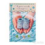Папка для свидетельства о рождении Голубые пинетки, Новосибирск