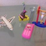 Продам игрушки самолет, сотовый телефон, мишка на мотоцикле,штангист, Новосибирск