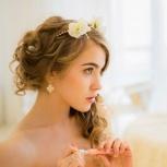 Прическа и макияж на свадьбу. Свадебный стилист. Стилист на дом, Новосибирск