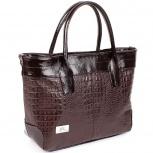 Эффектная сумка из натуральной кожи вмещает А4 формат, Новосибирск