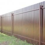 Заборы из профилированного листа ( высота 2 метра ), Новосибирск