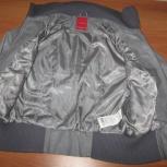 Молодежная куртка-бомбер Vero Moda натуральная кожаная серая 44-44+ р, Новосибирск