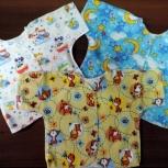 Распашонки, ползунки и пелёнки (пошив) для малышей, Новосибирск