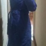 Плащ синий 46 размер, Новосибирск