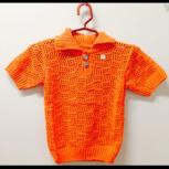 Рубашка вязаная, цвет: оранжевый, детский трикотаж Арт.21, Новосибирск