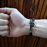 Мужской браслет из натуральной кожи, Новосибирск
