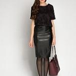 Продам новую юбку под кожу New  Look с этикеткой, Новосибирск