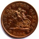 Канада 1 пенни 1852 отличный, Новосибирск
