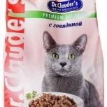 """Dr. Clauder""""s сухой корм для кошек с говядиной, Новосибирск"""