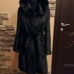Норковая шуба черная классика 46, Новосибирск