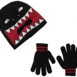 Новая детская шапка лыжная маска с перчатками, Новосибирск