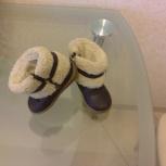 Продам тепленькие полусапожки zara baby натуральная кожа, мех, Новосибирск