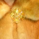 Шикарная Норковая шуба цвет медовый-очень красивая!, Новосибирск