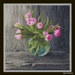 """Вышитая картина """"Голландские тюльпаны"""", Новосибирск"""