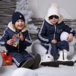 """Зимний костюм """"Армани""""  темно-синий. Рост 110, Новосибирск"""