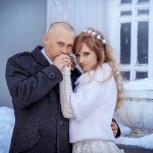 Свадебная шубка и вязаные перчатки, Новосибирск