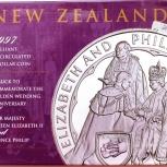 Новая Зеландия 5 долларов 1997 Золотая свадьба. Редкая, Новосибирск