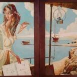 """Диптих """"Мелодия тихой воды"""" картина маслом, Новосибирск"""