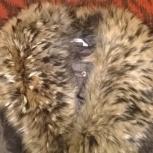 Шикарное пальто-пихора на меху, отделка из меха енота, Новосибирск