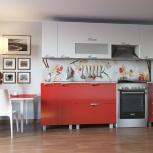 Кухонный гарнитур Мадена с горизонтальными шкафчиками, Новосибирск