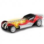 Машинка Hot Wheels со светом и звуком механическая красная 16 см, Новосибирск