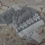 Новый комплект для девочки Sela(шапочка и варежки), Новосибирск
