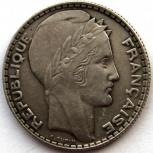 Франция 10 франков 1938 серебро, Новосибирск