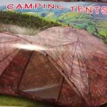 продам палатку 3-4 местную с навесную, Новосибирск
