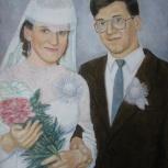 Подарок к свадьбе, юбилею - картина на заказ, Новосибирск