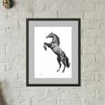 """Картина """"Лошадь на дыбах"""", Новосибирск"""