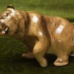 Фарфоровая статуэтка Медведь, Новосибирск