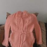 Продам детскую вязанную кофту розового цвета, Новосибирск