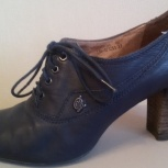 Ботинки синие, натуральная кожа, р-37(38), Новосибирск