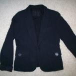 Черный пиджак трикотаж, Новосибирск