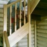 Деревянные лестницы для дачи, загородного дома, Новосибирск