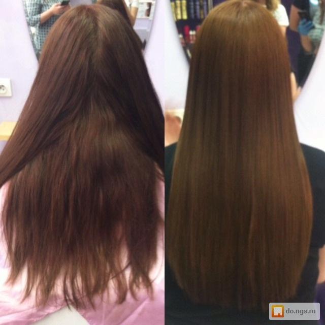 Выпрямление и питание волос