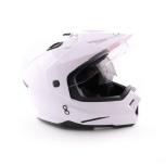 Шлем мотард ATAKI FF802 Solid белый глянцевый, Новосибирск