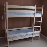 детская  двухъярусная кровать, новая 70Х160 см, есть матрасы, доставка, Новосибирск