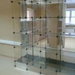 Продам стеклянную стеллаж витрину б/у, Новосибирск