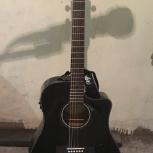 Гитара fender CD-60CE dreadnought black, Новосибирск