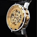 Стильные прозрачные часы Skeleton Winner механика, Новосибирск