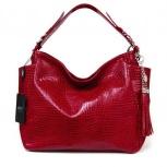 Яркая сумка на плечо, натуральная кожа, красная, Новосибирск