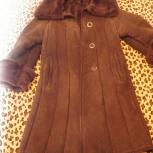 Дубленка, коричневая, рр. 134-146, б/у, Новосибирск