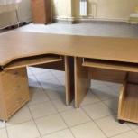 Комплект офисной мебели цвет дуб седан Смирнов-Мебель ЛДСП 25 мм, Новосибирск