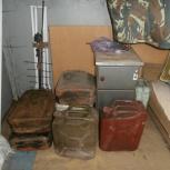 Продам канистры  металлические для бензина 20 литров б/у, Новосибирск