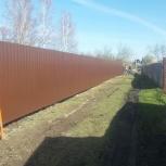 Монтаж забора из профлиста высотой 1,5 м, Новосибирск